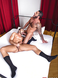 Raul Korso Swallows Max Toro's Cock Before Bareback Sex