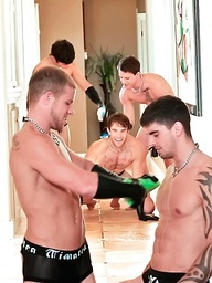 Muscle Maid Services. Dakota White, Zeus Xavier and Orange Julian