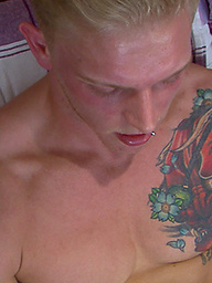 One Enthusiastic Wanker - Tom is Toned, Muscular, Tattooed - A Straight Hunk with a Big Uncut Cock!