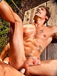 Two horny campers Dale Cooper and Parker Wright fucking outdoors