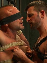 New dom Morgan Black fucks Chad Brock in bondage with his beautiful hard cock.