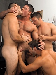 When Eric Pryor gets involved in a Halloween orgy with Caleb Strong, Derek Atlas and Paul Wagner