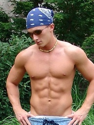 Cute college boy outdoors