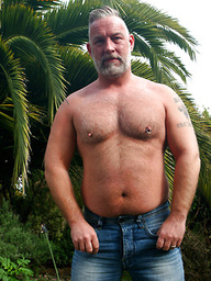 Silver dad Brent Cage outdoors