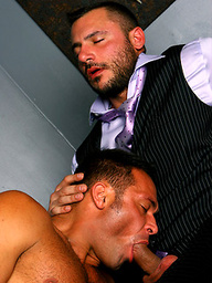 Rough blowjob from a hungry throated gay hunk