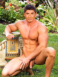 Hot muscle hunk posing naked