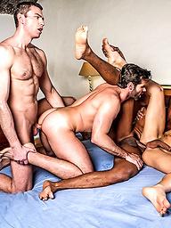 Ken Summers Leads A Five-man Double Penetration Orgy