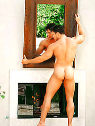 Brunette Carlos Morales naked