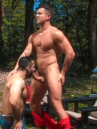 Muscle hunks Adam Champ and Trenton Ducati fucking