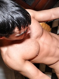 Latino gay bareback sex with Gerardo Bartok and Diego fucking for a creampie