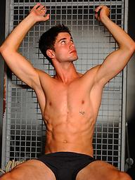 Sexy hung athlete Dima Kokes naked