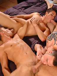 Brandon Lewis, Cliff Jensen and Hunter Ford - muscle threesome