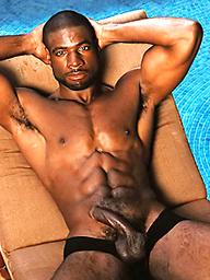 Black muscleman Adam Dexter