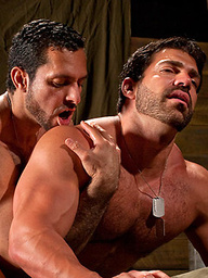 Hairy muscle men Adam Champ and Vince Ferelli fuck