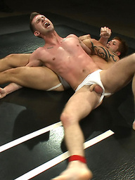 Jake Austin and Troy Daniels fight for real to see who gets fucked and covered in a hot load.