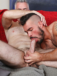 Here's the hot pics of Daddy Derek barebacking and breeding hot Aarin Asker. These two know how to fuck.