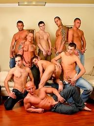 Muscled guys posing naked
