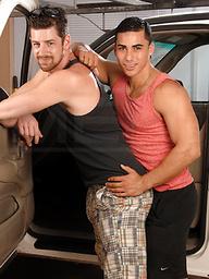 Latina-gay drills white ass.