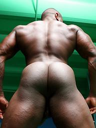 Young ebony athlete Adam Sky