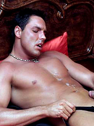 Marcello wakes up from a horny dream and masturbates