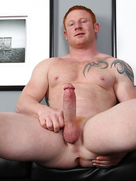 Red-haired boy Jordan jacking off