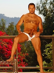 Arpad Miklos shows his hairy dick