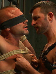 New dom Morgan Black fucks Chad Brock in bondage with his beautiful hard cock.