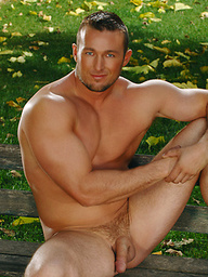 Danny Drake posing naked outdoors