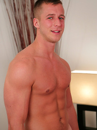 Muscular Young Straight Blond Hunk Alfie Pumps His Rock Solid Big Thick Uncut Cock!