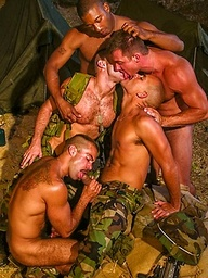 Soldiers in gay orgy