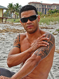 Marcos at the beach