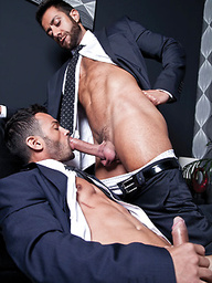 Valentino Medici and Adriano Carrasco get their suits off for a fuck between two hunks