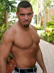 Muscled latin man Mario Ortiz