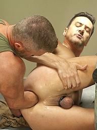 Evan Matthews and Rex Gravis soldier fisting scene