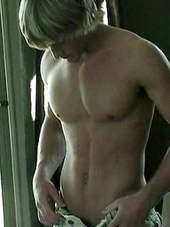 Sexy stud posing