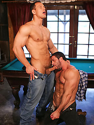 Hot muscle hunks Carlo Masi and Chris Wide fuck