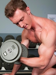 Trevor Snow works out his horny muscle jock body and jerks his junk for you.