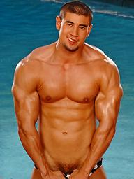 Jason Crystal posing naked outdoors