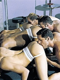 Seven studs in gay orgy