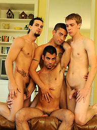 D.J., Phenix Saint, Patrick Kennedy and Justin Ryder gay orgy