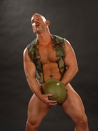 Muscled soldier Samuel Colt