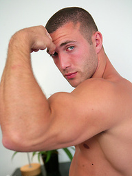 Tall Muscular Hunk James Branson - Check out this Personal Trainers Big Gun!
