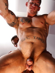 Muscle studs Glenn and Troy bareback fuck