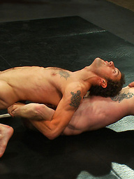 Two crazy ripped studs battle it out on the mat to save their hot asses from getting pounded by the winner's huge cock.