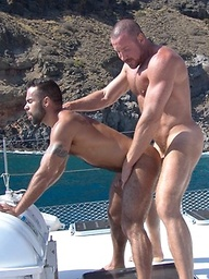 Muscle guys Trojan Rock and Steve Cruz fucking