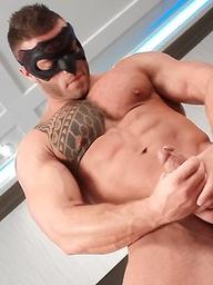 Devon Dexx masked jerkoff